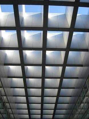 Lucernario con panel composite