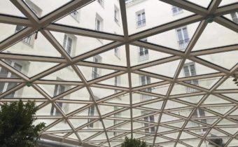 lucernario de vidrio